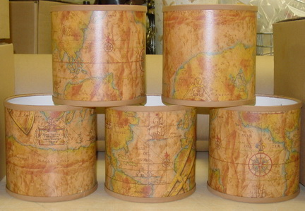 Hardback Lampshades From Across The Board Woodworks