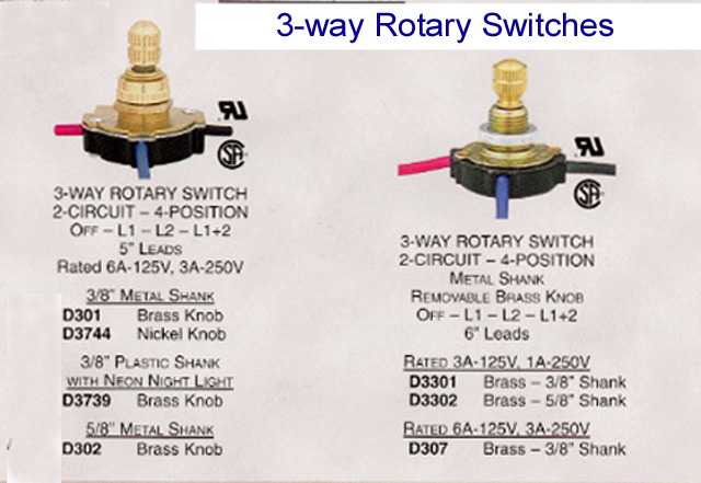 3WayRotarySwitches floor lamp & bridge lamp components 2 Bulb Lamp Wiring Diagram at alyssarenee.co