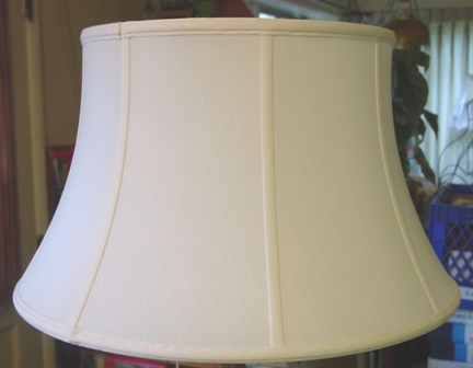eggshell color off white shantung outer with vertical piping lined. Black Bedroom Furniture Sets. Home Design Ideas
