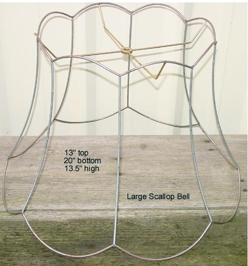 Large lampshade frames largescallopbellframeg 106715 bytes large scallop bell frame greentooth Choice Image