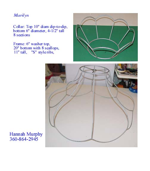 Lampshade frame prices marilyn similar but larger than florida frame price includes crown 10 x 6 x 4 12 see picture here keyboard keysfo Gallery