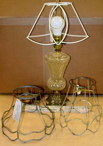 Small lampshade frames a frame on lamp b frame on left c frame on right greentooth Choice Image